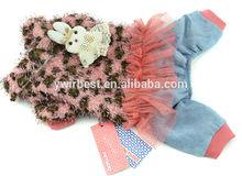 2014 NEW ARRIVAL winter skirt style leopard design dog clothes pet coat, xxs dog clothes(S017)