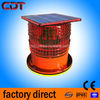 Solar-powered low intensity red led chimney aviation warning lights , 2 years warranty IP65 obstacle beacons for towers
