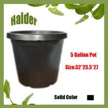 Hot 5 Gallon Black Round Plastic Flower Pot Liners