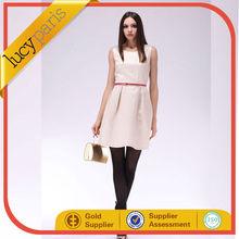 fashion waist accessories sleeveless 2014 lucyparis summer korean dress for women