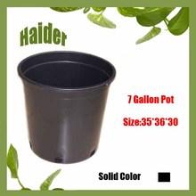 Hot 7 Gallon Black Plastic Flower Pot Trays