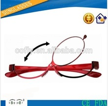 2014 most simple lightweight comfortable black frame, wooden finish temple Frame Color and wooden finish reading glasses Style r