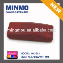 Mingmou manufactory provides you silk screen printing cross pattern wine PU leather eyeglasses case