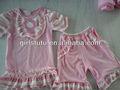 doce doce rosa bebê e jardineiras camisa shorts combinando roupausada creme do reino unido