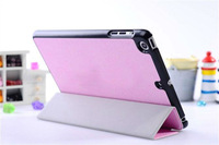 Fashion slim-fit smart case cover for ipad mini tablet w/stand and auto wake/sleep function