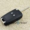 Hot sale Auto flip remote key case 2button HU100 for Buick 13503658 folding key case