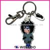 factory price fashion custom soft pvc keychain