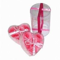 Heart shaped clear PVC boxes