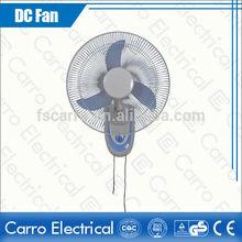 Popular 16 inch 12v remote control oscillating wall fan silent wall fan DC-12V16F2