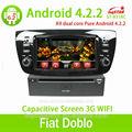 gps لسيارة فيات doblo 4.2 الشاشة مع الروبوت capactive، نظام تحديد المواقع، bt، ridio، حالات