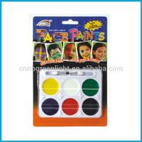 Six color fashionable face body paint