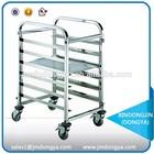 LR-6W stainless steel cake cart,bakery bread rack trolley cart,pan cake shelf