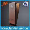 Accepted OEM genuine leather flip case for samsung s5 case
