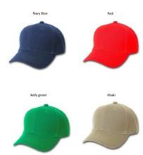 Blank baseball cap Adjustable Velcro Hats kelly green / khaki / navy blue / red camper baseball cap
