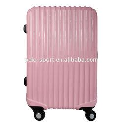 OEM ABS/PC trolley case hard case 4 wheels aluminum trolley cart TSA lock