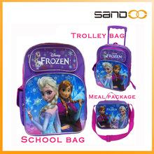 2015 Disny Anna elsa frozen school bag with frozen lunch bag