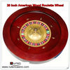 20inch wood roulette wheel roulette game