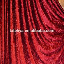 Polyester material Italian velvet for blinds upholstery fabric