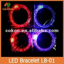 30pcs/lot colorful changing Led bracelet light up bracelet flashing acrylic glowing bracelet toys for christmas ornament for kid