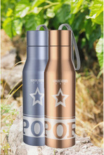 720ml bicycle double wall stainless steel water bottle with string