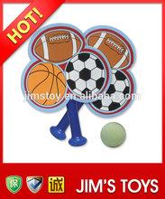 2014 New Product promotional sponge racket football basketball and rugby set sponge tennis racket set