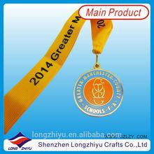 Metal gold medal athletics / award medals for school games