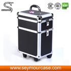 Wholesale Cosmetics Usa Professional Soft Rolling Makeup Case Drawers Large Cosmetic Train Case