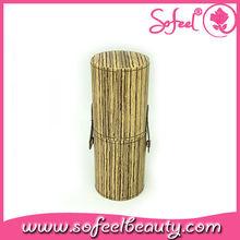 Sofeel bamboo texture high quality makeup brush cylinder
