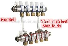 Menred European Standard stainless steel intelligent central heating system manifold floor heating manifold