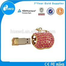 wholesale alibaba Lovely heart jewelry usb flash,diamond usb drive,gift usb.