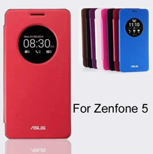 Battery back cover Flip Leather Phone Case For Asus Zenfone 5 Case