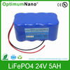 24V 5Ah lifepo4 battery used for golf car