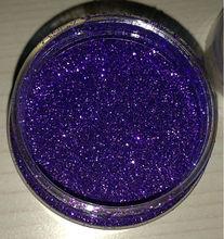 Violet glitter powder for decoration