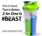 Twin pack Protein Shaker BPA free(Disney audit, Wal-mart audit,WCA audit)