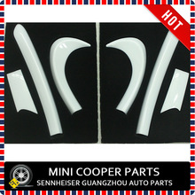 Mini Cooper Mini Ray Style Pure White Color ABS Material UV Protected Door Kit Accessory For mini cooper F56 S Only (6Pcs/Set)