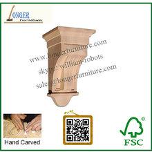 Vuelos baratos de China tallada a mano de madera ménsula CNC talla de madera de decoración lowes europea para chimenea