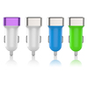 Wholesale 3.1a high efficiency double usb car charger with blister packing for samsung