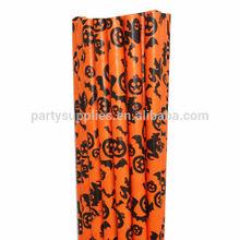Halloween Supplies Halloween Pumpkin Bats Paper Straws