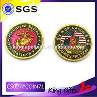 promotional souvenir coin brass stamping cheap military coin high quality metal souvenir coin