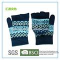 nero modello di stampa lavorato a mano guanti invernali più caldi