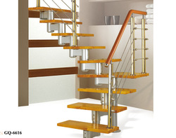 Manufacturer supply wood steel stairway with modern design for home