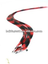 micro loop ring synthetic feather hair extensions