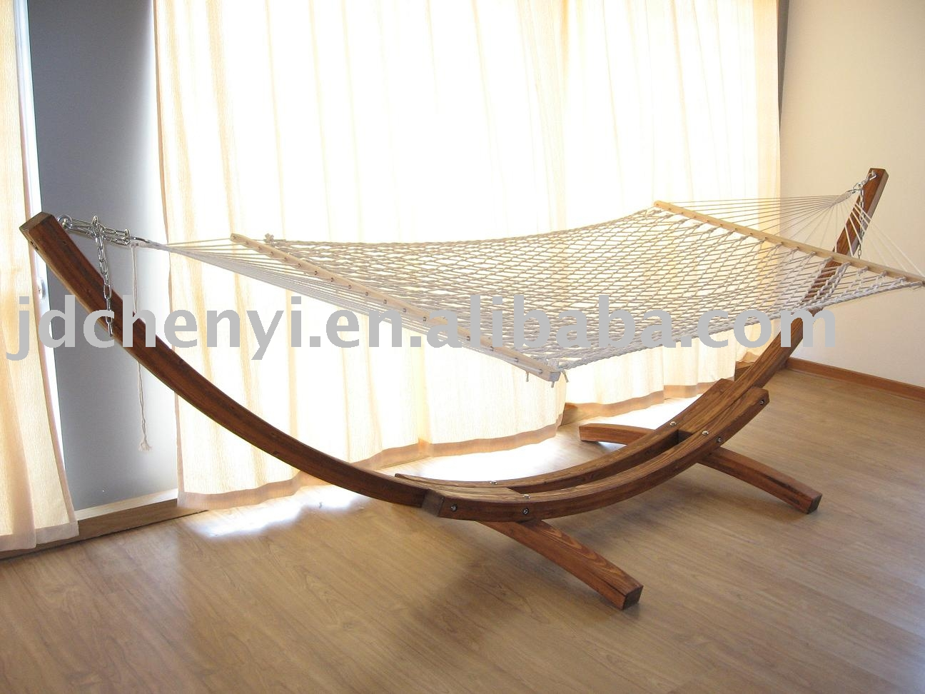 Outdoor Furniture,Wooden Hammock,Garden Furniture Photo, Detailed