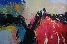 Abstract oil painting spring art