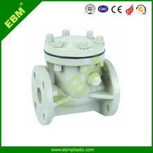EBM Manufacturer High Quality Sizes PP-H Flanged Swing Check Valve For Water Acid (EFV004E)