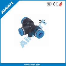 airkert calidad del neumático de plástico empuje en el conector neumático poner