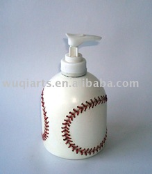 polyresin baseball lotion dispense,bath set