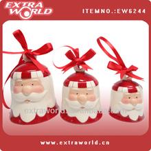 Ceramic christmas hanging bells