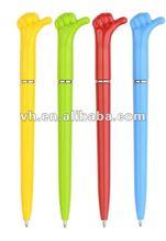 2012 new design hot sale twist plastic finger ball pen