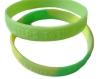 embossed Silicone bracelet